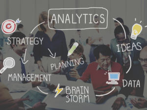 Analytics Thinking Analysis Data Information Strategy Concept