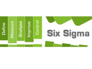 Six sigma concept image with text and related words.